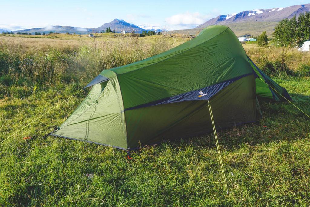 Campingplatz auf Island im Norden