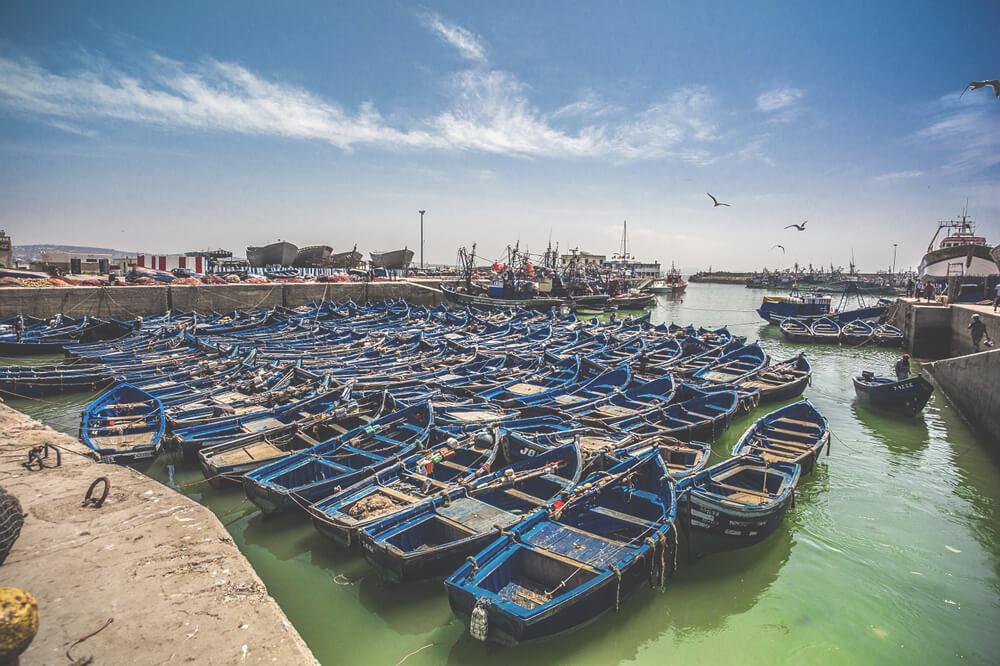 Essaouira-Boote-Hafen-Marokko-Fischerei