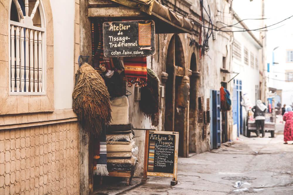 Essaouira-Marokko-Rundreise-Medina-Altstadt-Geschaeft