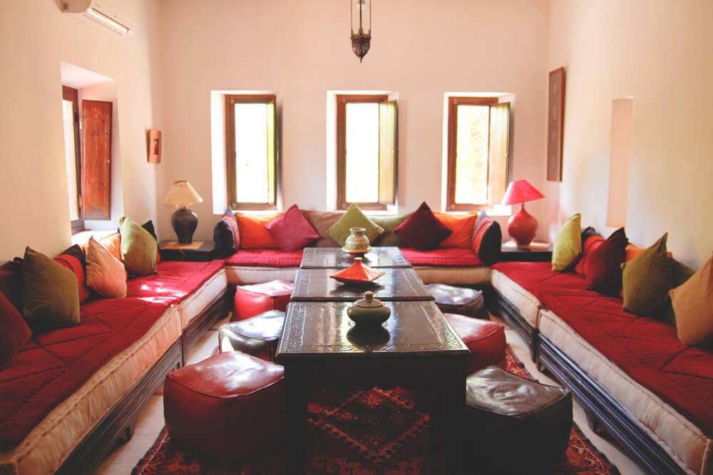Kasbah-Azul-Agdz-Marokko-Rundreise-Lounge