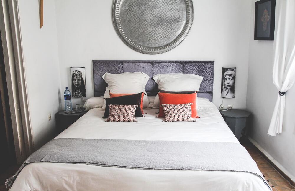 Riad-Lyon-Mogador-Essaouira-Marokko-Doppelzimmer-Bett