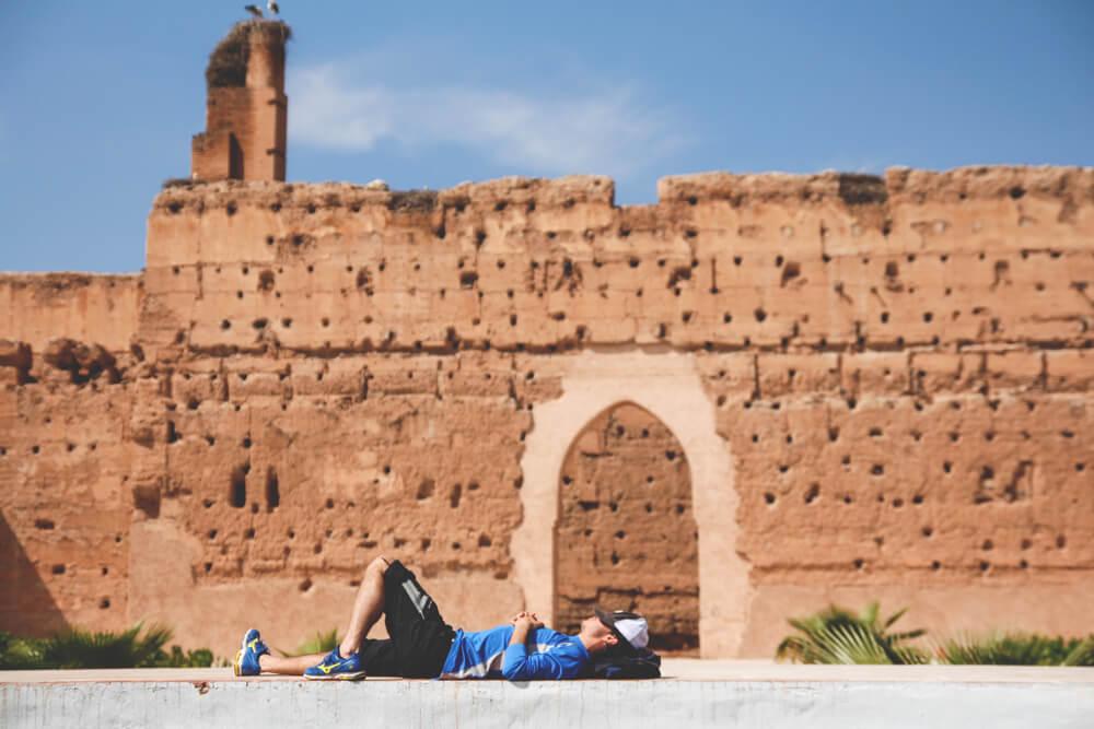 Ruine-El-Badi-Palast-Marrakesch-Marokko-Pause