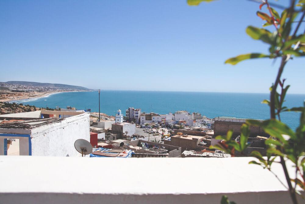 Taghazout-Marokko-Rundreise-Surfen-Aussicht-Atlantik-Terrasse