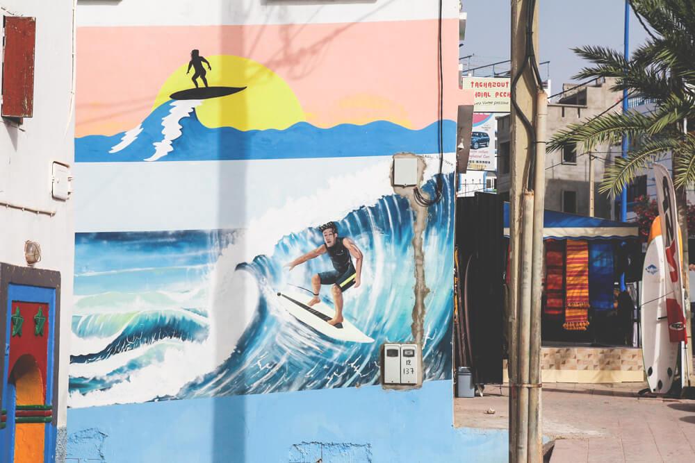 Taghazout-Marokko-Surfen-Gassen-Dorf-Surfshop