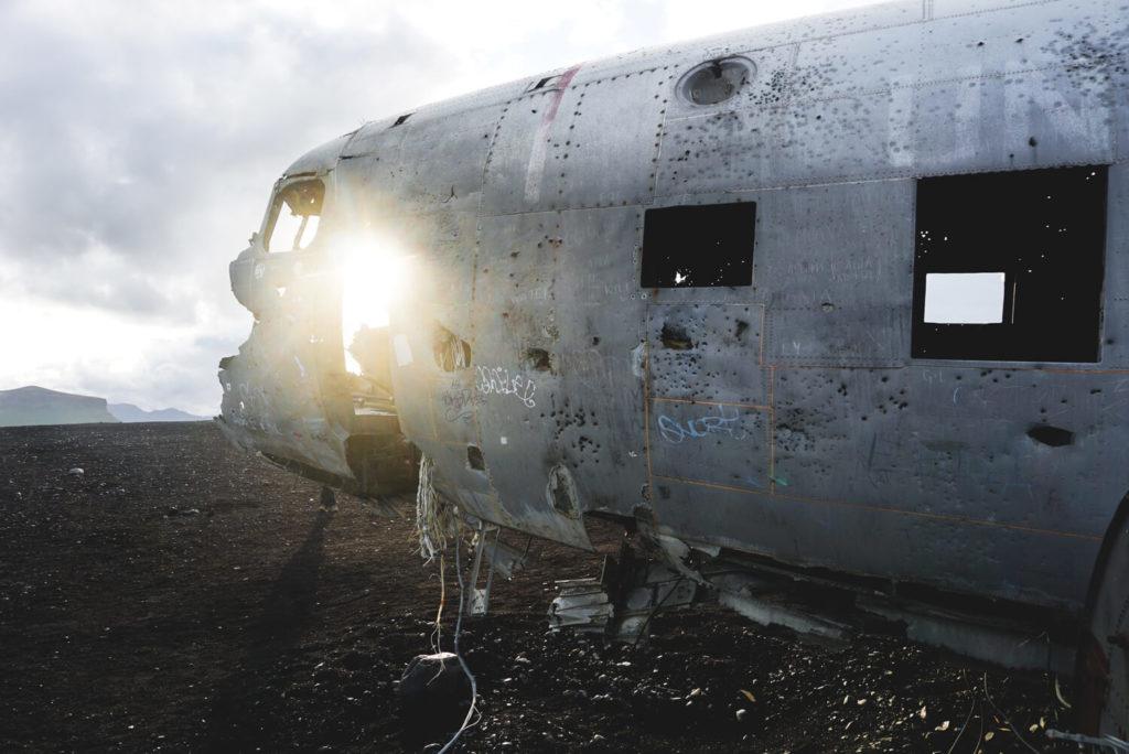 Das Flugzeugwrack am Strand von Sólheimasandur