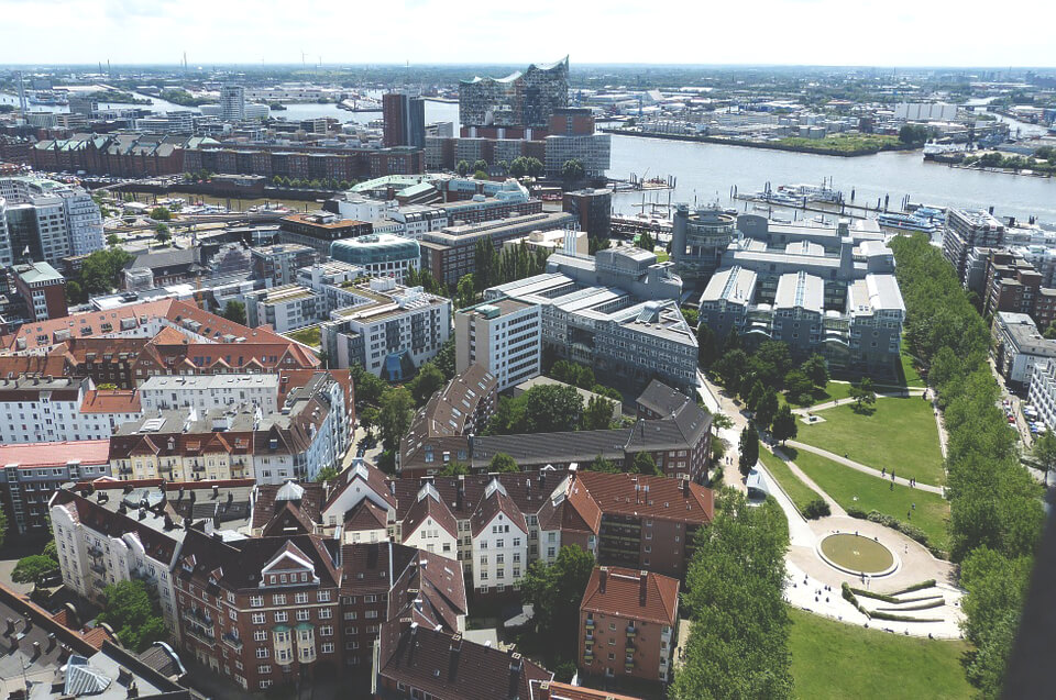 Aussicht-Hamburg-Michel-Panorama-Hafen