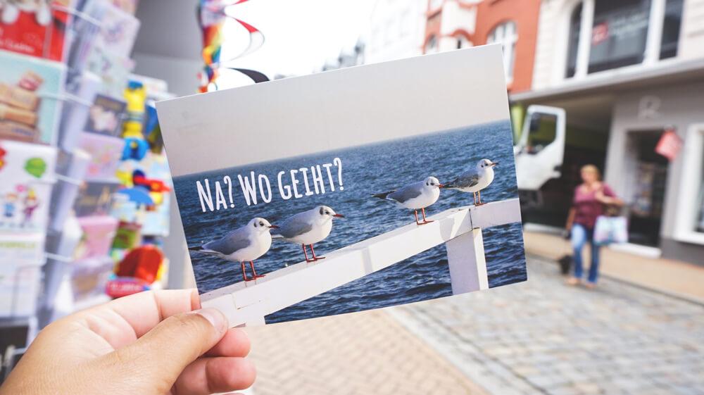 Flensburg-Postkarte-Norddeutschland-Shopping