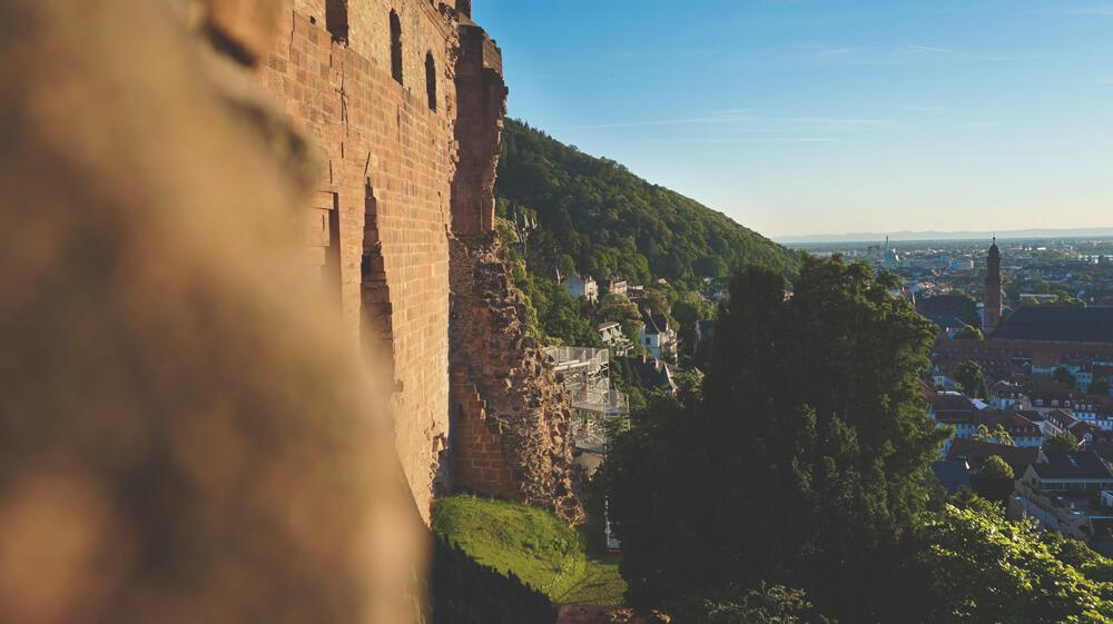 Heidelberg-Schloss-Aussicht-Sonnenuntergang