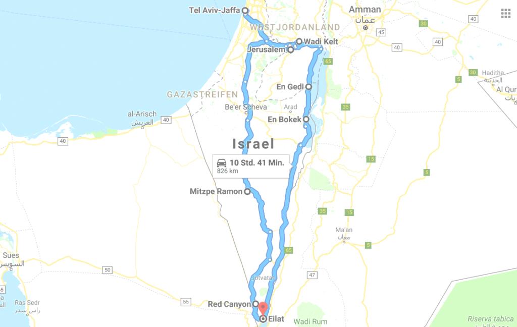 Israel-Rundreise-Route-Mietwagen-7-Tage-1