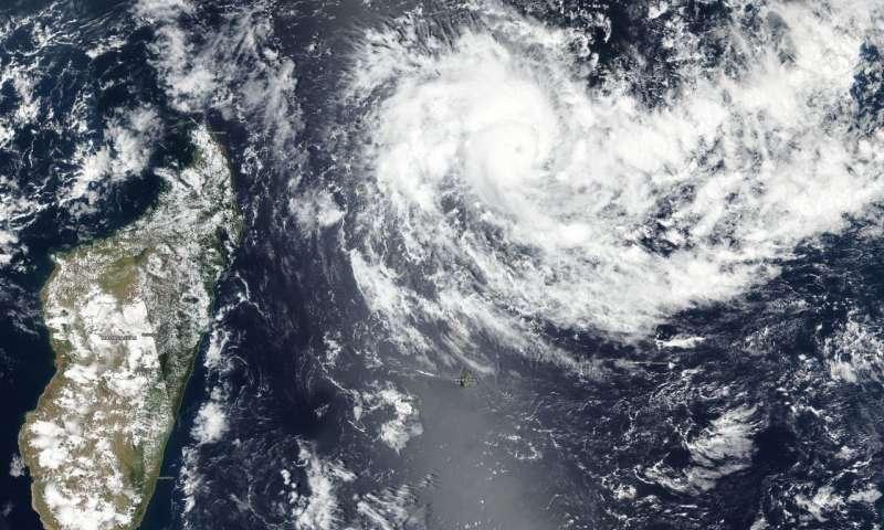 NASA Aufnahme Zyklon Mauritius