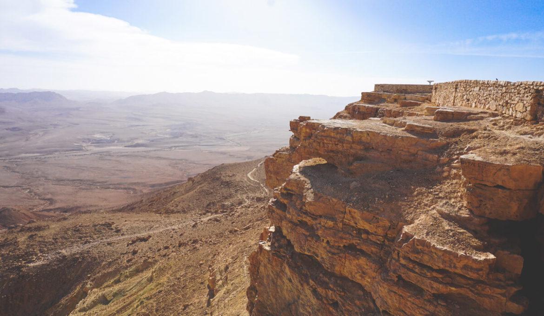 Der Ramon Krater in wunderschöne Negev Wüste Israels