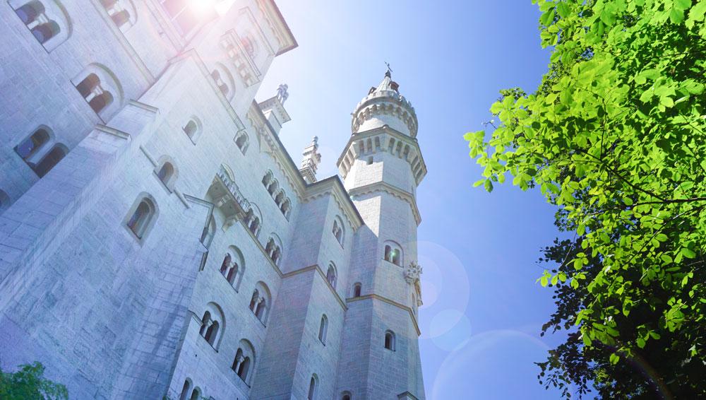 Schloss-Neuschwanstein-Aussenansicht