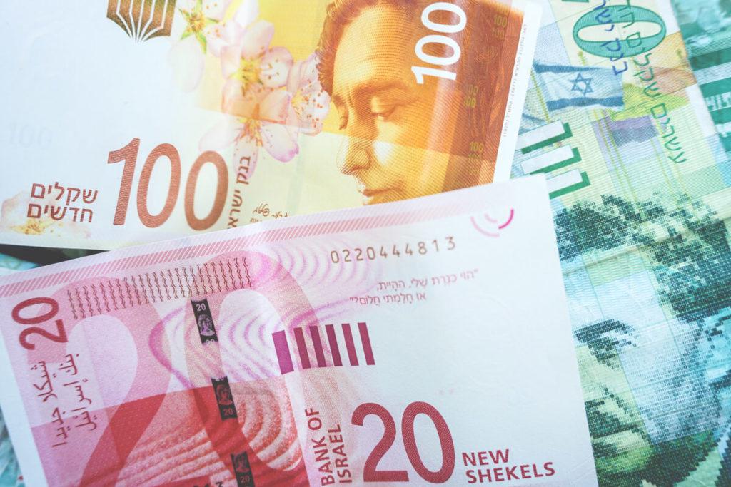 Währung Israel Schekel Geldschein