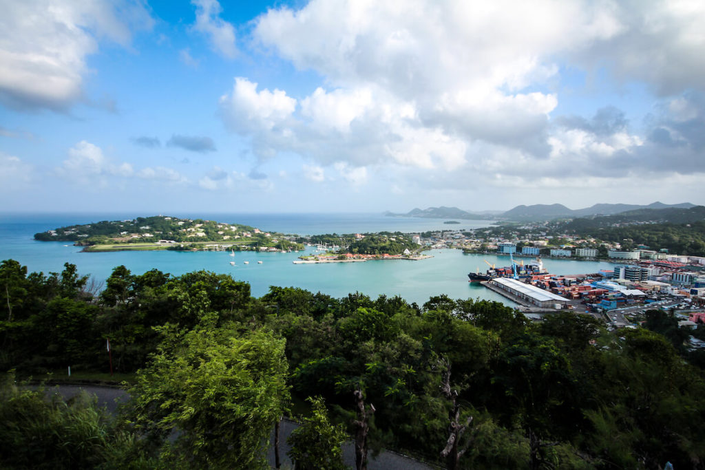 saint-lucia-karibik-castries-viewpoint