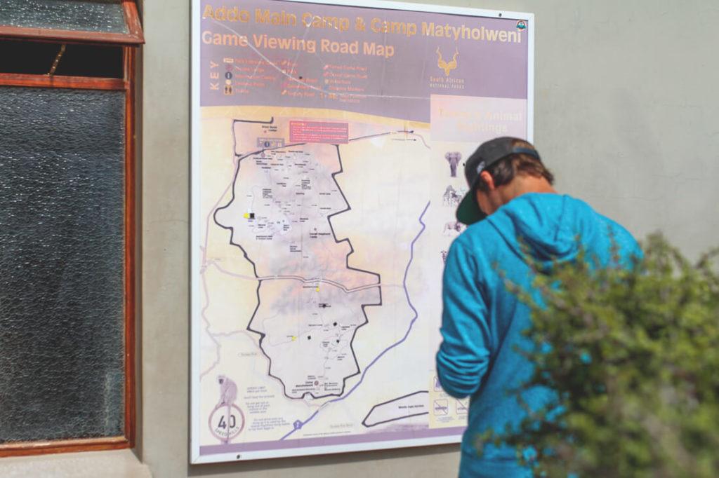 Addo-Elephant-Park-Suedafrika-Karte-Map