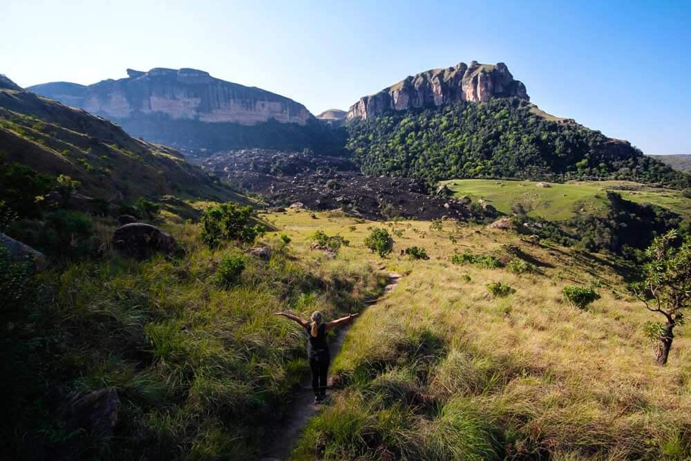 Aussicht-Drakensberge-Royal-Natal-Tour-Suedafrika-Wanderung