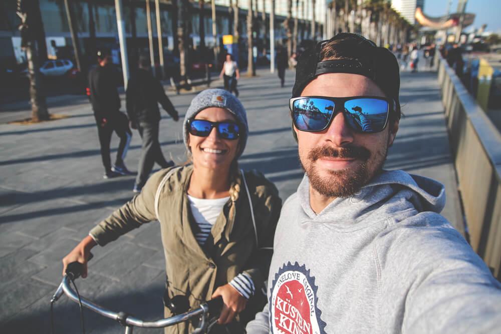 Fahrradtour-Barcelona-Spanien-Strand-Kueste
