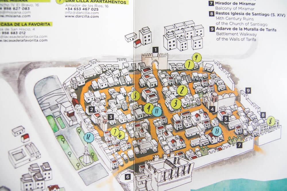 Stadtkarte-Tarifa-Alstadt-Spanien-Andalusien
