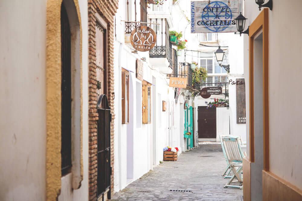 Tarifa-Spanien-Andalusien-Altstadt-Strassen