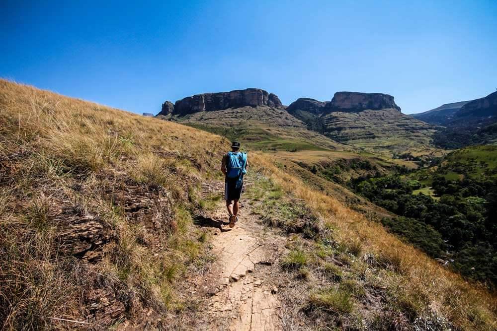 Wanderung-Drakensberge-Tour-Suedafrika-Rundreise-Royal-Natal-National-Park