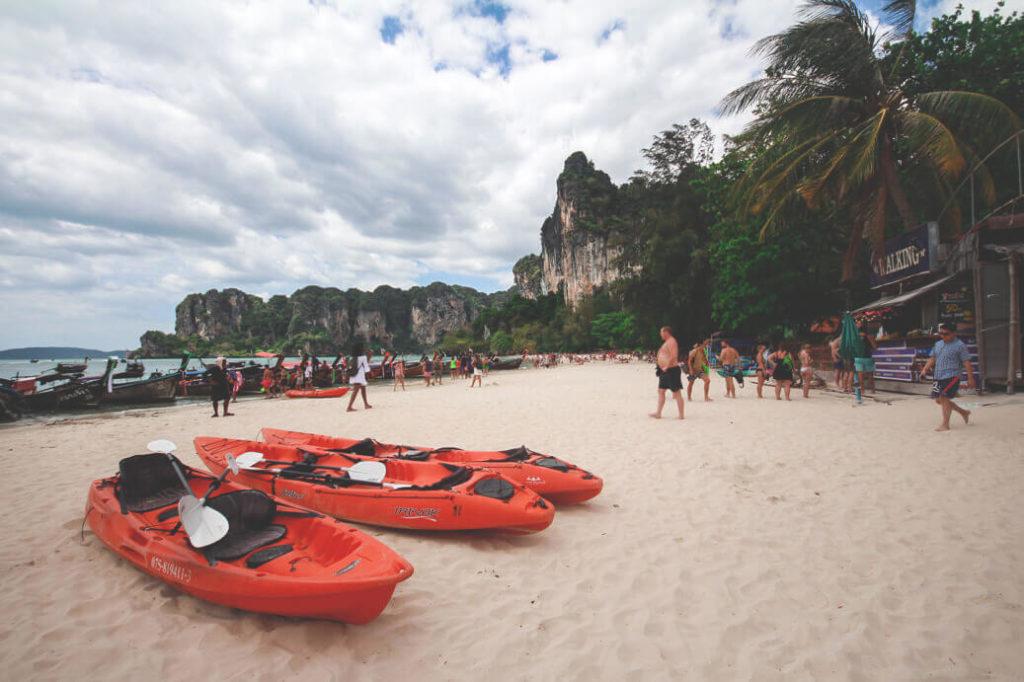 Ankunft am Railay Beach in Thailand