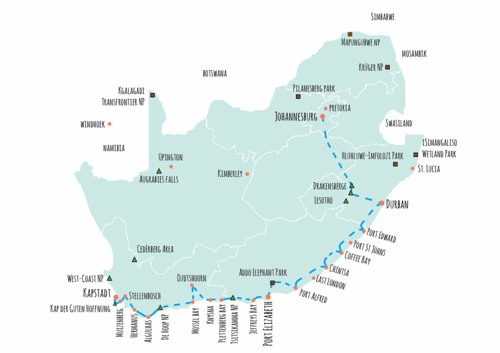 Route-Suedafrika-Rundreise-Mietwagen