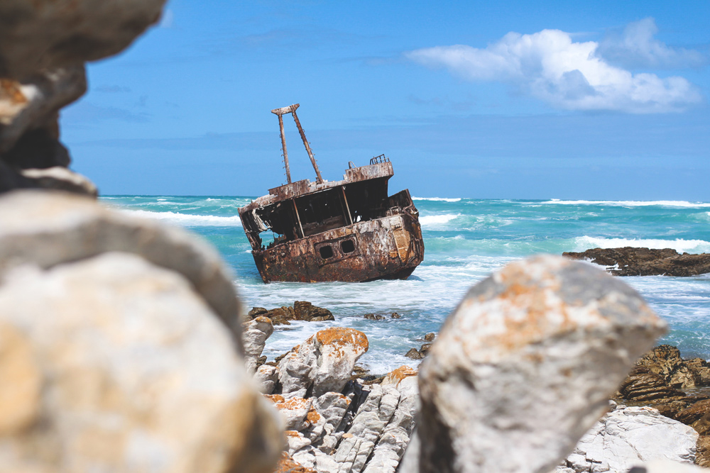 Rundreise-Suedafrika-Cape-Agulhas-Schiffswrack