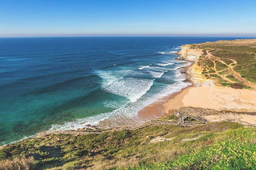 schönster Strand in Portugal Ericeira Ribeira d'Ilhas