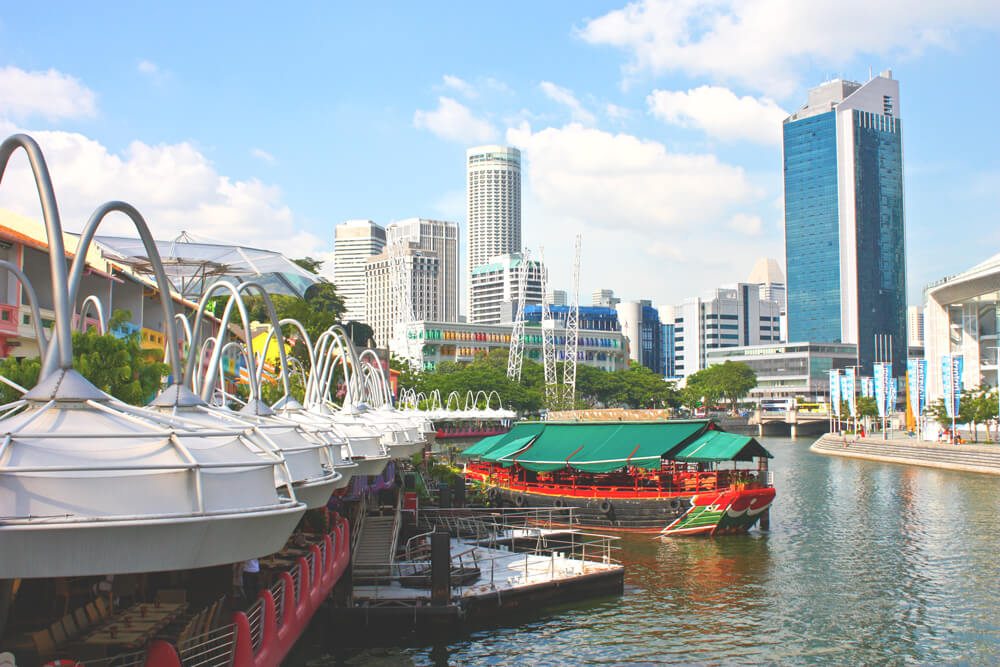 Clarke Quay in Singapur