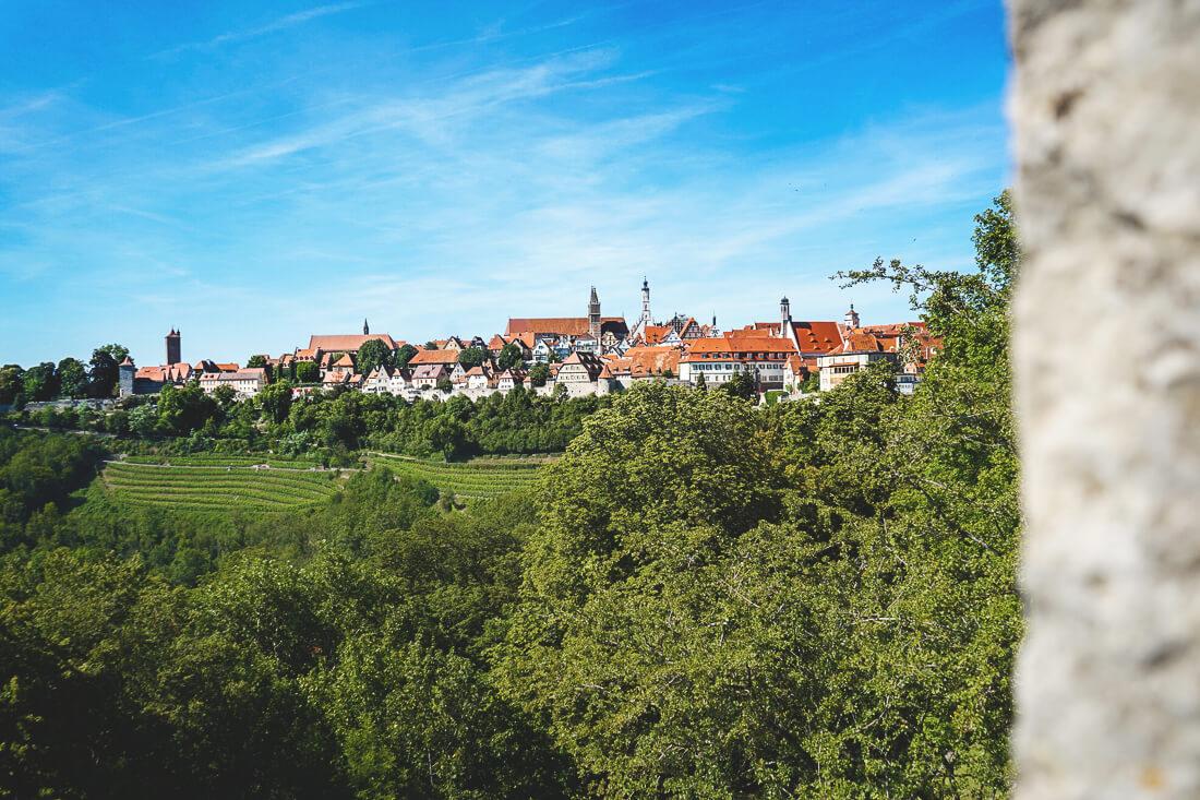 Gästehaus am Plönlein Aussicht Zimmer Rothenburg ob der Tauber