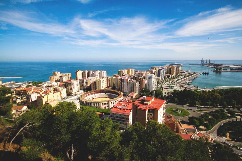 Malaga Sehenswürdigkeiten Burg Gibralfaro aussicht