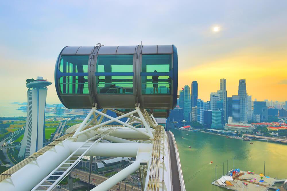 Singapur Sehenswürdigkeiten Singapore Flyer Riesenrad