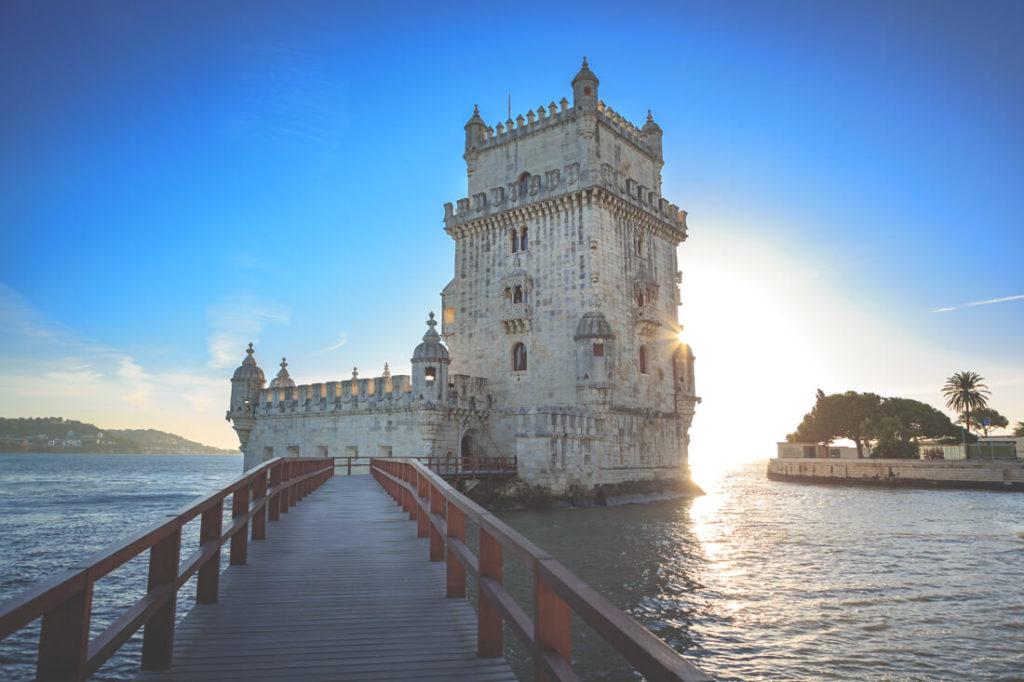 Sehenswürdigkeiten Portugal Turm von Belem Lissabon