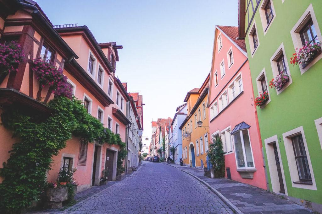 Sehenswürdigkeiten in Rothenburg ob der Tauber Wenggasse