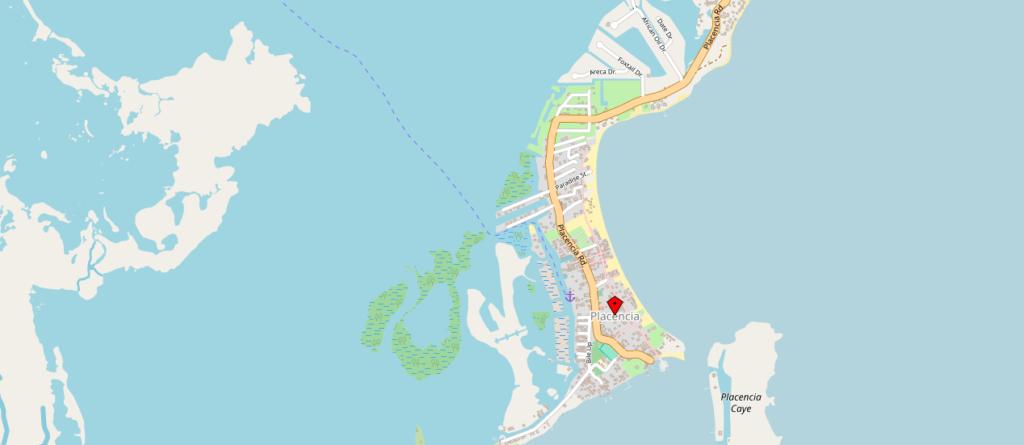Placencia-Belize-Tipps-Highlights-Karte