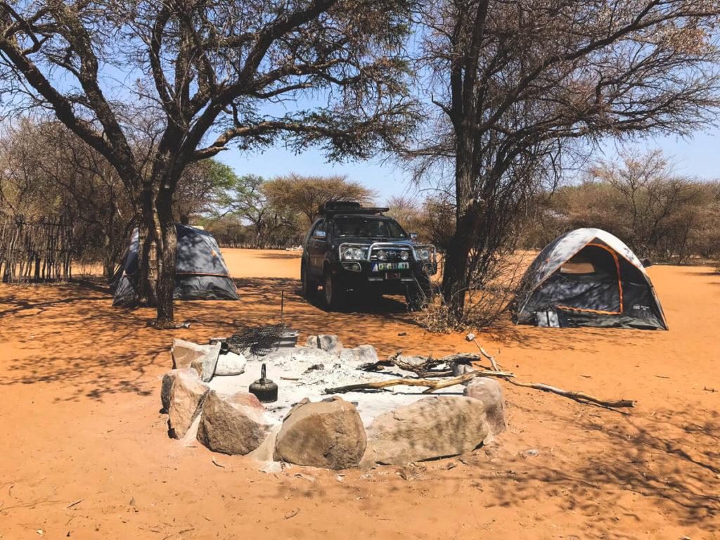Botswana-Rundreise-Camping-Zelt