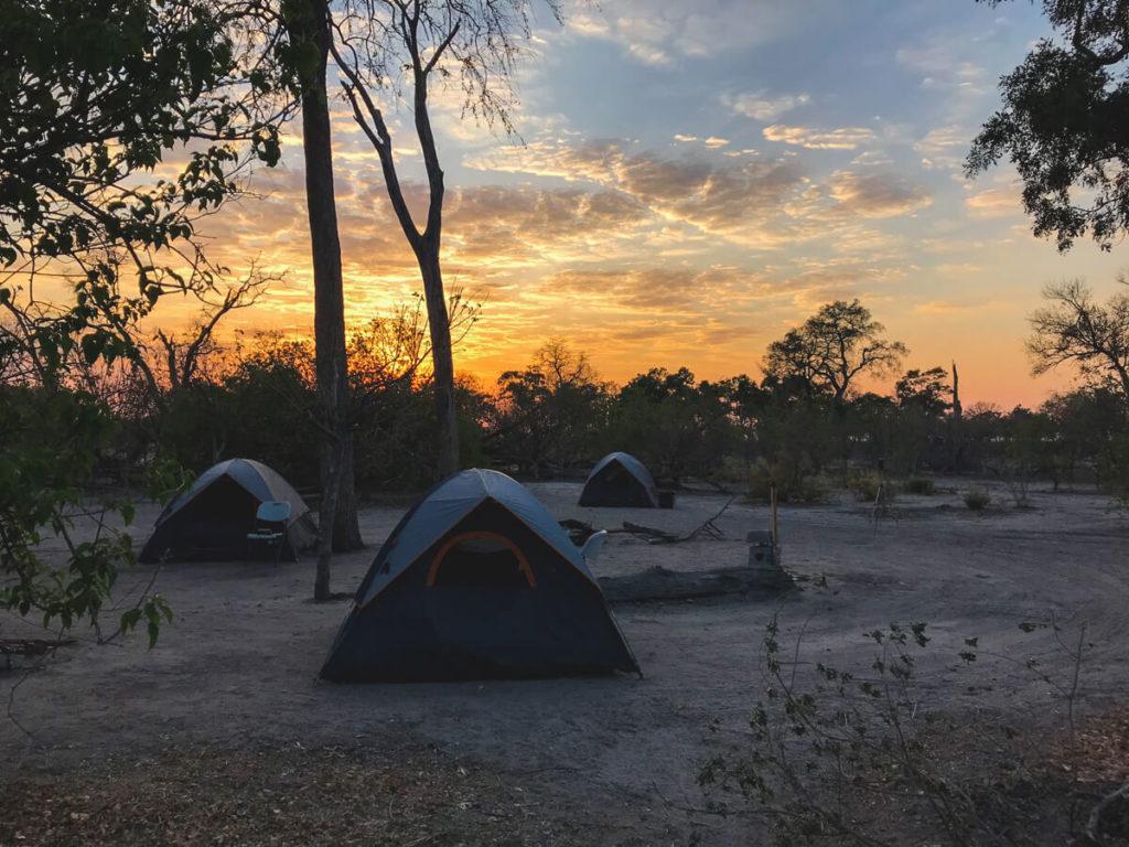 Botswana-Rundreise-Zelten-Camping