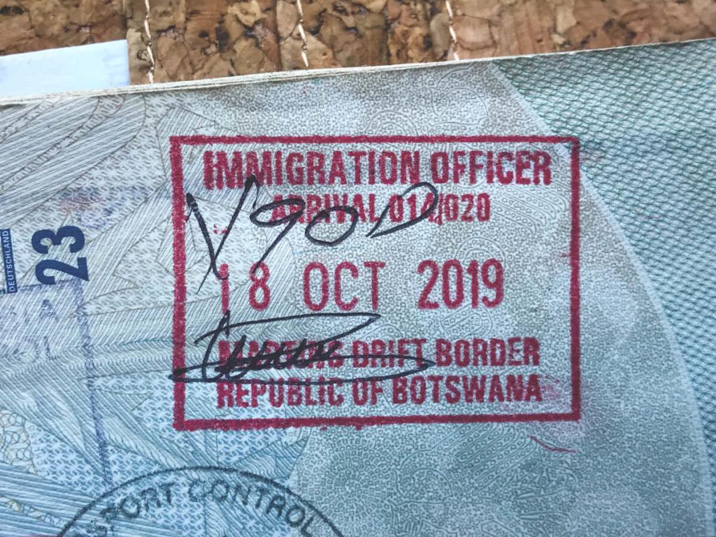 Einreise-Botswana-Stempel-Reisepass