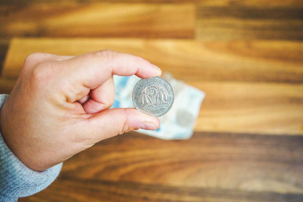 Währung Mauritius münze Bargeld