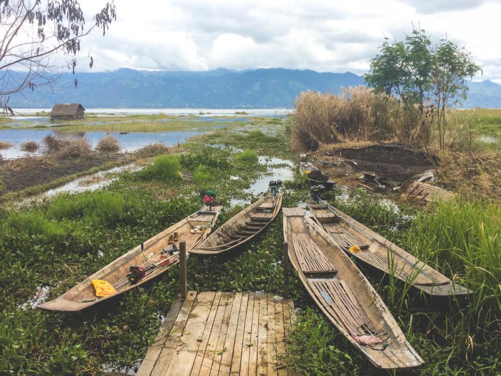 Myanmar-Rundreise-Boote-Inle-Lake