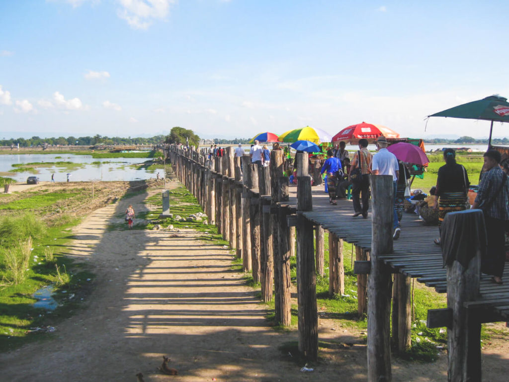 Myanmar-Rundreise-Mandalay-U-Bein-Bruecke