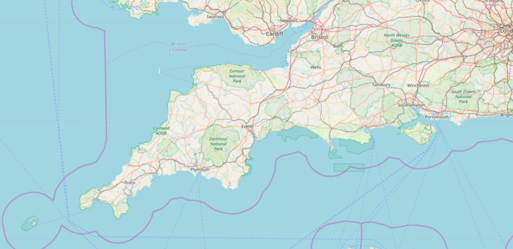 Devon-Cornwall-England-Rundreise-Karte