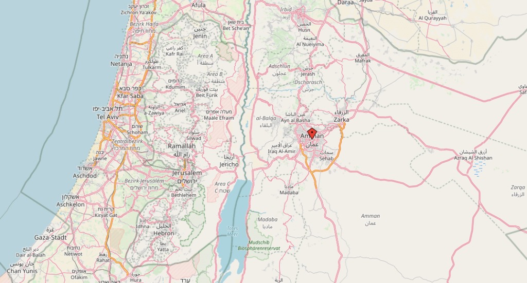 Amman-Karte-Openstreetmap