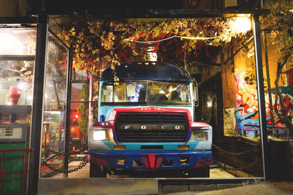 Amman Sehenswürdigkeiten Rainbow Street Bus STop