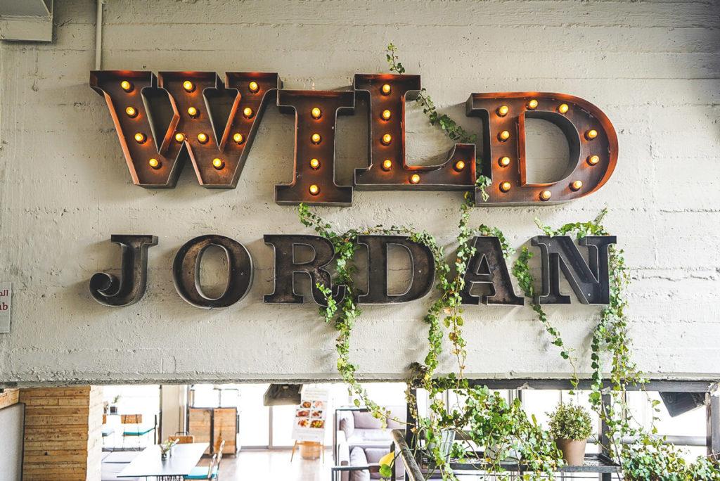 Amman Sehenswürdigkeiten Wild Jordan Center Schild