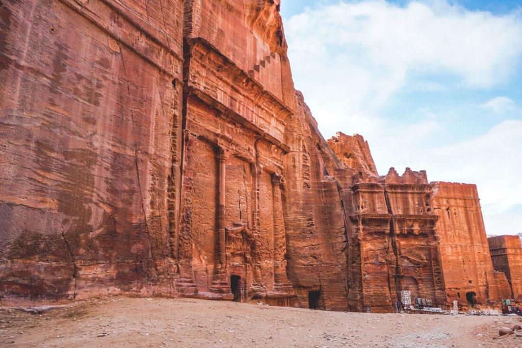 Felsenstadt-Petra-Jordanien-Fassadenstrasse