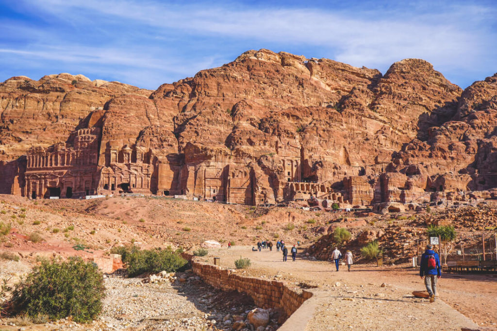 Felsenstadt-Petra-Jordanien-koenigsgraeber