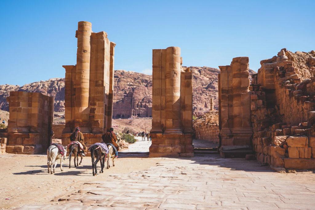 Felsenstadt Petra Sicherheit in Jordanien