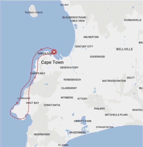 Helikopterflug-Kapstadt-Route
