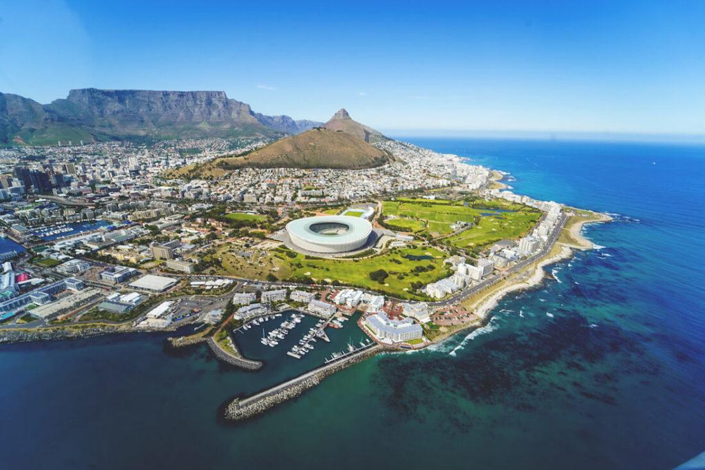 Ausflüge ab Kapstadt Flug Helikopter